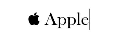 Apple logo linking to Apple